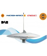 V9112agcudab20 - NASHIRA - ANTENNE TV OMNIDIRECTIONELLE TNT avec amplificateur bypass