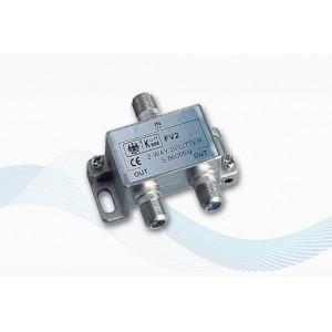 V9147 - SPLITTER AVEC 2 SORTIES POUR Antennes TV TNT