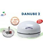 DANUBE 2 - Antenne TV Satellite pour bateaux fluviaux, 58x32cm