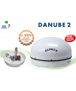 DANUBE 2 - Satellite TV Antenna for river boat, 58x32cm