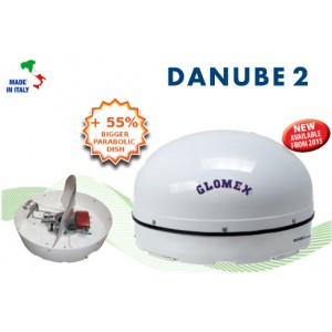 DANUBE 2 - R500 - Satellite TV Antenna for river boat, 58x32cm