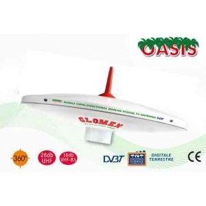 OASIS² - T480E - Antenna TV Terrestre oMNIDIREZIONALE PER CAMPER - 25CM DIAM
