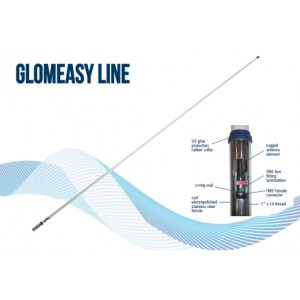 RA1225FME - Antenne Marine VHF Glomeasy line - 2,4m - term. FME - embase special pour installation facile