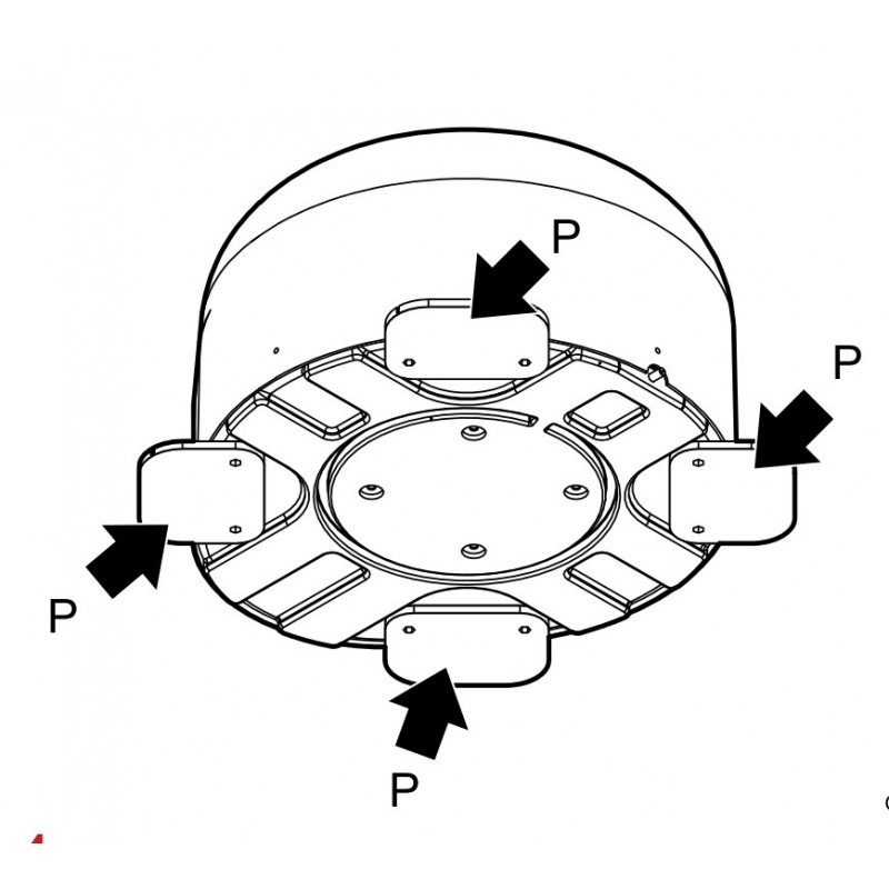 Mounting Foot For Satellite Tv Antenna Spare Part