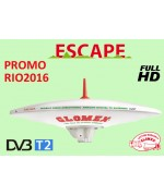ESCAPE - OMNIDIRECTIONAL DVBT TV ANTENNA FOR MOTORHOME - 37CM DIAM