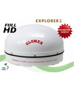 EXPLORER 2 - FULL MOTION SATELLITE TV ANTENNA TV - EXHIBITION SAMPLE
