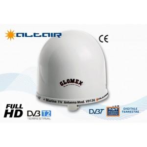 ALTAIR - V9126 - ANTENNA MARINA TV TERRESTRE omnidirezionale, 25cm