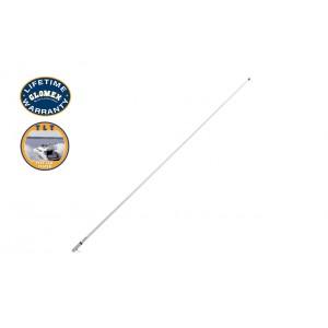 RA1206CR - ANTENNA VHF MARINA 2,4m con boccola cromata