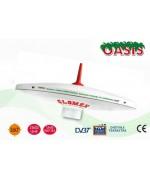 OASIS² - T480E - AntennE TV TNT OMNIDIRECTIONNELLE POUR CAMPINGCAR - 25CM DIAM