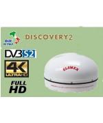 DISCOVERY 2 - ANTENNA TV SATELLITARE STAZIONARIA 4K - DVB-S2 - CAMPIONE DA TEST