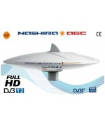 NASHIRA AGC - OMNIDIRECTIONAL TV ANTENNA WITH AUTOMATIC AMPLIFIER