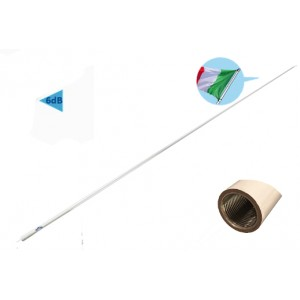 RA1201 2.4M MARINE VHF ANTENNA WITH INTEGRATED FERRULE - BASIC LINE